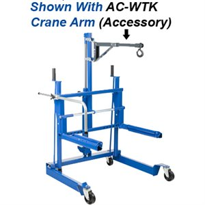 0.5 TON AC HYDRAULIC WHEEL TROLLEY FOR VANS, TRUCKS AND BUSES